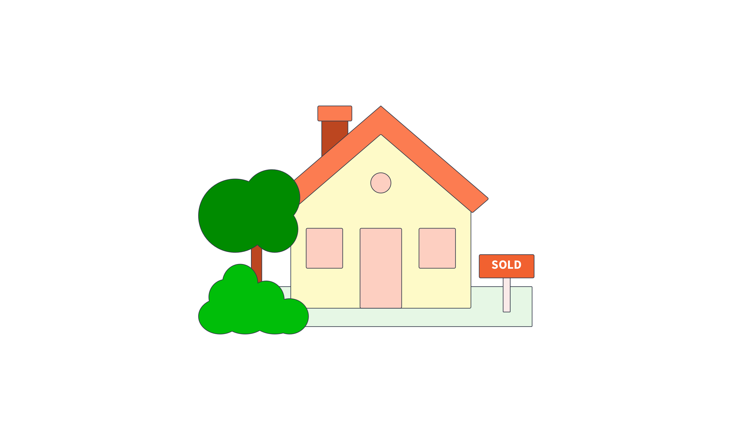 Illustration of house sold